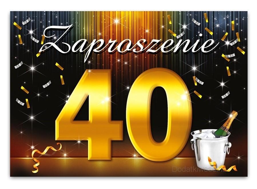 Zaproszenie Na 40 Urodziny Zx6800