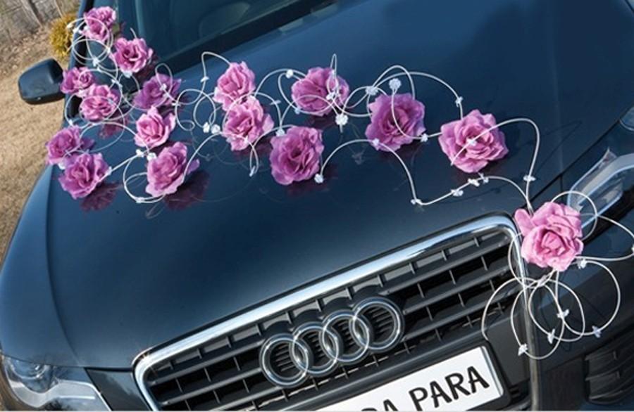 Zestaw Do Dekoracji Samochodu Laura Pudrowy Róż