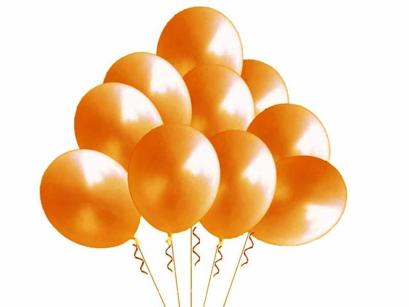 Balony pastelowe orange 10'' - 100szt