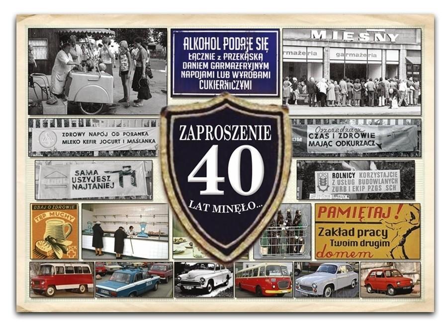 Zaproszenie Na 40 Urodziny Prl Zx7000
